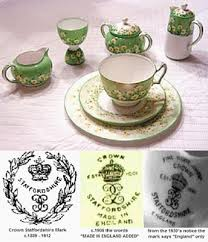 crown staffordshire pottery marks antique bone china query