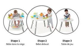 siege d eveil table d activité bébé évolutive avec siège et 25 jeux d éveil skip hop