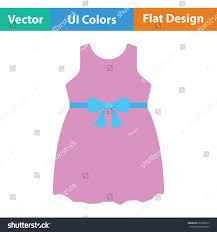 pink flat color baby dress icon flat color stock vector 663966679 shutterstock