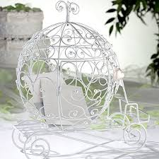 wedding gift card holder white wire fairy tale coach gift card holder