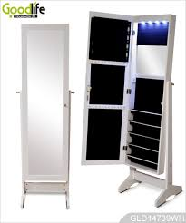 full length mirror with led lights full length dressing mirror with storage cabinet for jewelry with