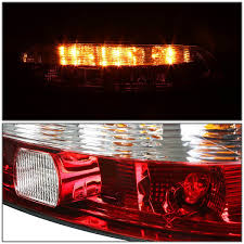 00 lexus sc300 sc400 pair of chrome housing clear u0026 red lens