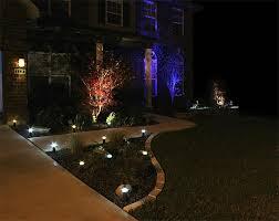 Colored Landscape Lighting Colored Landscape Light Bulb And Led Lighting Colors Installation