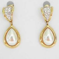 unique earrings pearl diamante earrings elegance by marks and spencer m s