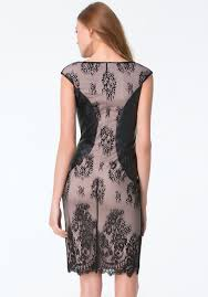 Leather And Lace Clothing Bebe Lace U0026 Faux Leather Dress Lyst
