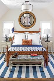 Navy White And Coral Bedroom Beautiful Blue Bedrooms Southern Living