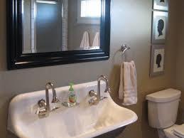 Double Trough Sink Bathroom Vanity Bathroom Trough Sink Bathroom 32 Single Sink With Two Faucets