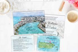 Map Wedding Invitations Etsy U2013 Wedding Sundae Studio