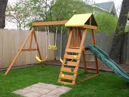 mesmerizing swing sets for small backyard photo inspiration amys