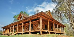 One Story Cabin Plans What Type Material One Story Country House Plans With Wrap Around