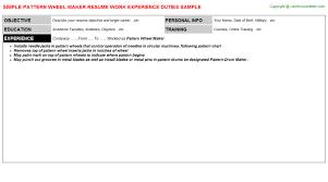pattern maker resume pattern wheel maker resume sle resumes templates