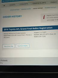 my toyota account 2016 toyota afl grand final where are you sitting bigfooty afl