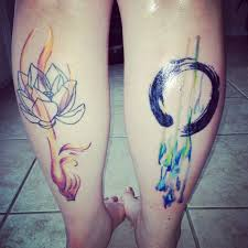 25 watercolor zen circle tattoos ideas