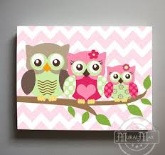 Nursery Owl Decor Owl Wall Owl Decor Wall Owl Canvas Owl Nursery