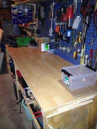 using wood laminate flooring for a work bench top 5 steps with