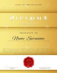 a m diploma frame template certificate design in gold color award certificate