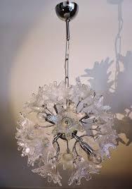 Venini Chandelier Venini C For Veart Scorzé Original Sputnik Floral