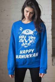 hanukkah sweater blue cat hanukkah sweatshirt ragstock