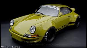 rwb porsche yellow porsche 911 rwb