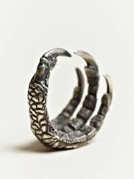 cool rings for men claws ring silver feather bracelet for men ring