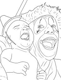 scary coloring pages best for kids clown free face adults dezhoufs