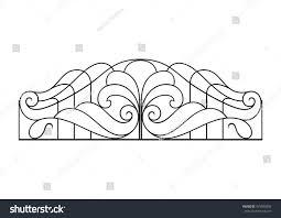 wrought iron balcony fence stock vector 479580850 shutterstock