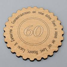 60 birthday celebration personalised 60th birthday celebration coaster by neltempo