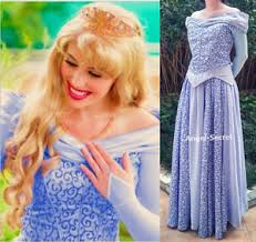 p440 cosplay dress princess sleeping beauty blue costume aurora