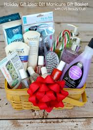 gift baskets ideas gift idea diy manicure gift basket diy manicure