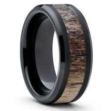 deer antler wedding band 10mm deer antler wedding band deer antler ring tungsten ring