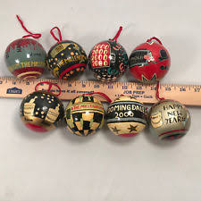 hand painted christmas ornaments ebay