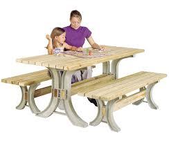 Picnic Table Dining Room Amazon Com Hopkins 90182onlmi 2x4basics Picnic Table Kit Sand