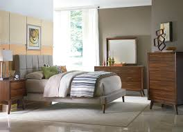 brown paint walls and table lamp mid century bedroom ideas white