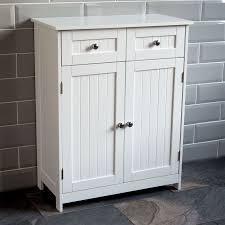 Two Door Storage Cabinet Priano Bathroom Cabinet 2 Drawer 2 Door Storage Cupboard Unit