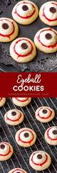 Eyeball Appetizers For Halloween by Eyeball Cookies Homemade Hooplah