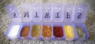 how to mod a pill organizer into a camping size spice shaker
