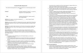 content provider agreement template microsoft word templates