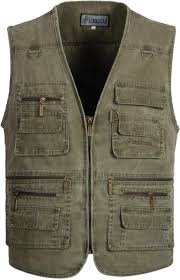 mens multi pocket travel safari vest outdoor plus size highly