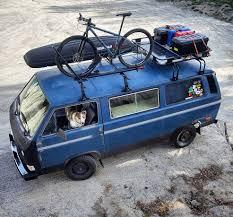 volkswagen vanagon blue solar power continuous camper