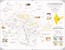 Himilayas Map Arjun Haarith A Sojourn In The Kumaon And Garhwal Himalayas