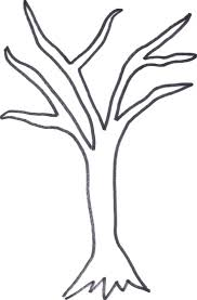 outline of a tree drawing cliparts co