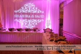 wedding backdrop rental vancouver wedding decor vancouver ambient light monogram gobo rentaldecor