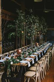 Long Farm Barn Wedding Botanical Australian Barn Wedding Wedding Table Settings
