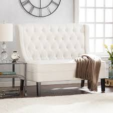 bench sofa uk bench linklea high back tufted settee bench ivory sofas seating