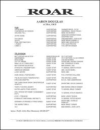 theatrical resume format acting resume format musical theatre template theatrical how to