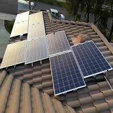 Flat Tile Roof Aluminum Solar Panel Mounting System For Flat Tile Roof