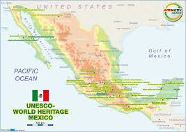 Oaxaca Mexico Map Map Of Unesco World Heritage Mexico Map In The Atlas Of The