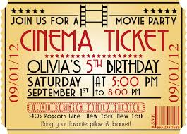 5th birthday party invitation movie birthday party invitations theruntime com