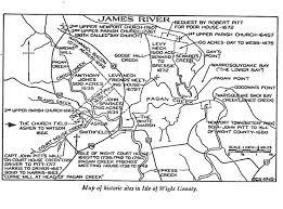 County Map Of Virginia Isle Of Wight Virginia Map Virginia Map