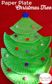making a paper plate christmas tree crafting with kids kid